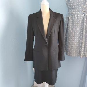 Armani Collezioni Sz 12 pinstriped skirt suit